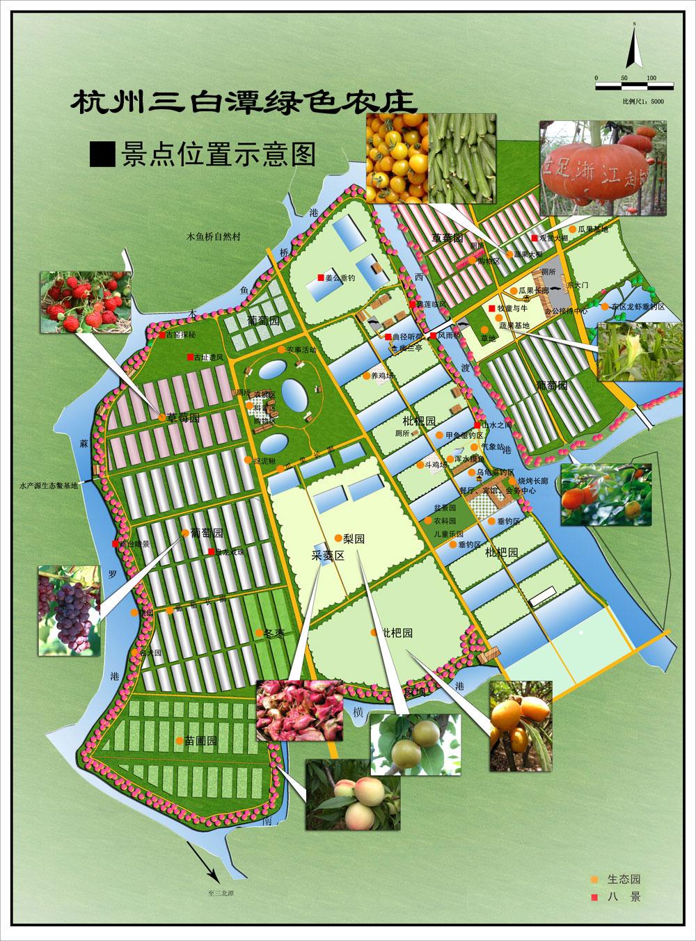 手绘农庄平面图